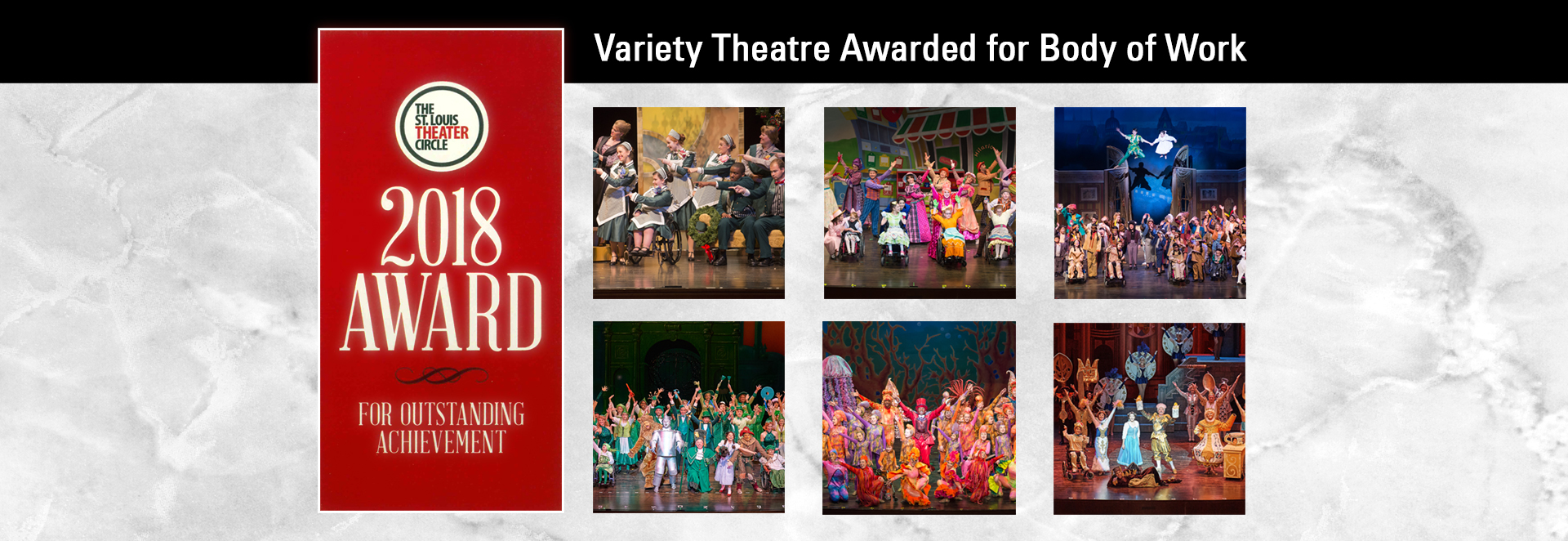 Variety Theatre Collage of shows